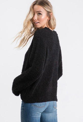 Black Teddy Bear Sweater