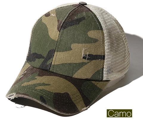 Camo Criss Criss Elastic Back Trucker Hat