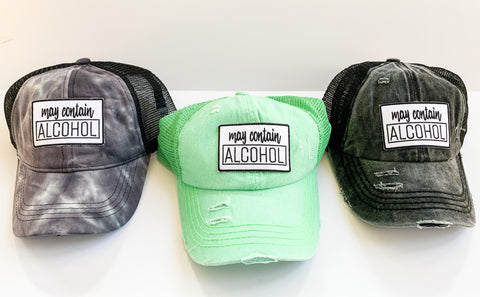 May Contain Alcohol Hat (color options)