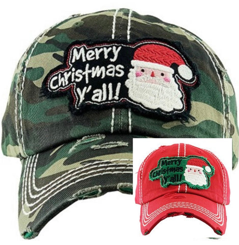 Merry Christmas Y'All (2 colors red or camo)
