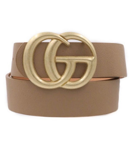 Double Metal Faux Leather CG inspired belt (3 colors)