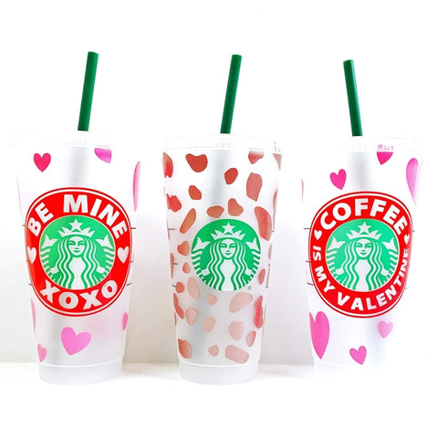 Venti Iced Coffee Valentine's Cups