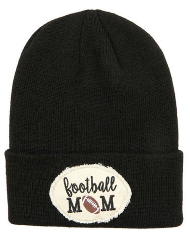 Football Mom Patch Beanie