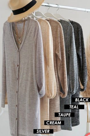 Heather Black Belize Cardigan