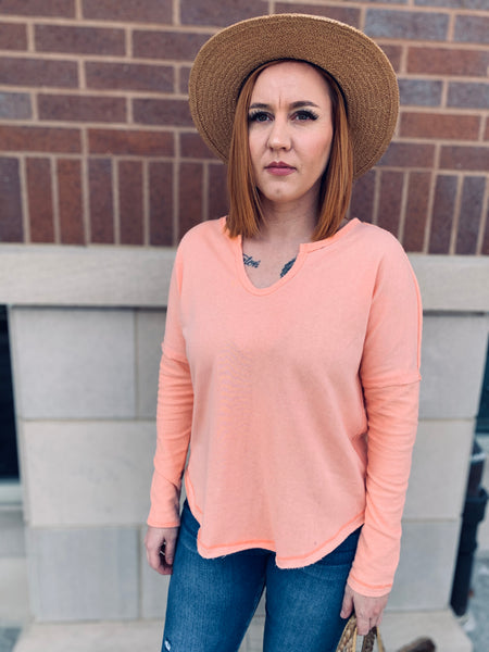 Peach Harper Top