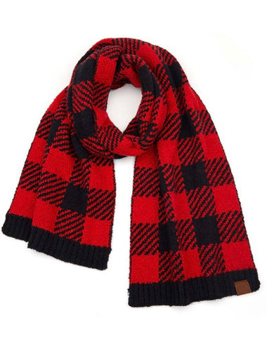 Buffalo Plaid Jacquard Scarf (s colors)