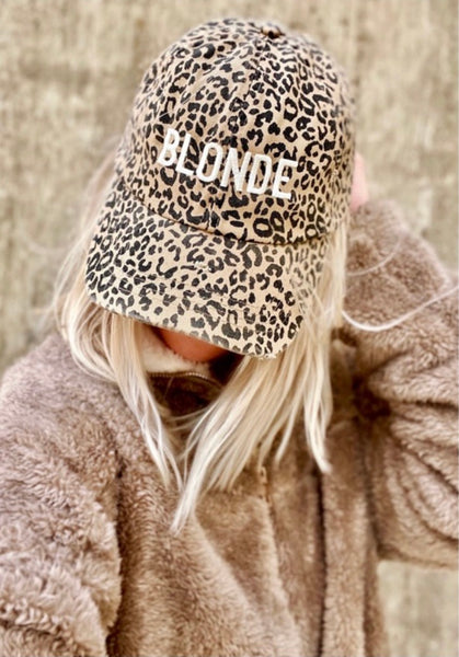 Leopard Blonde or Brunette Hat