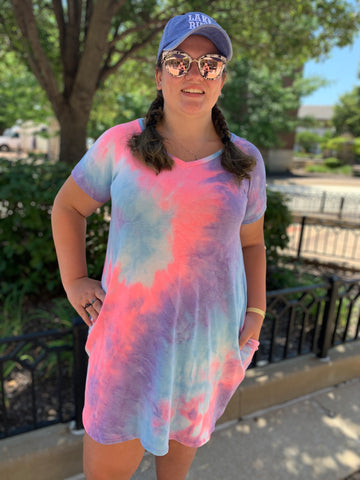 Tie Dye French Terry Dress (curvy)