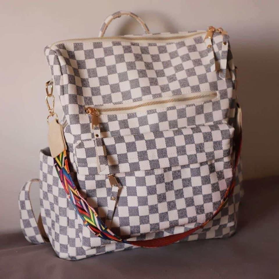 Claudia Checkered Backpack (2 color options)