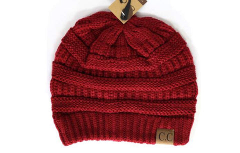 REGULAR CC LABEL BEANIE (ruby red)