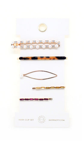 Fancy Barrette Set - MIXED