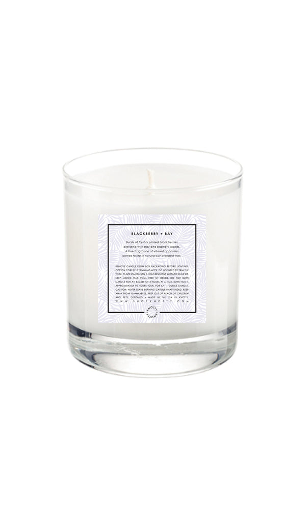 Soy Candle | Blackberry + Bay - Knotty
