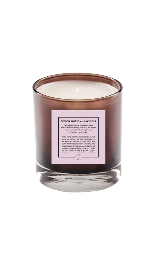 Soy Candle | Cotton Blossom + Lavender - Knotty
