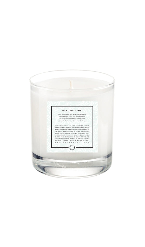 Soy Candle | Eucalyptus + Mint - Knotty