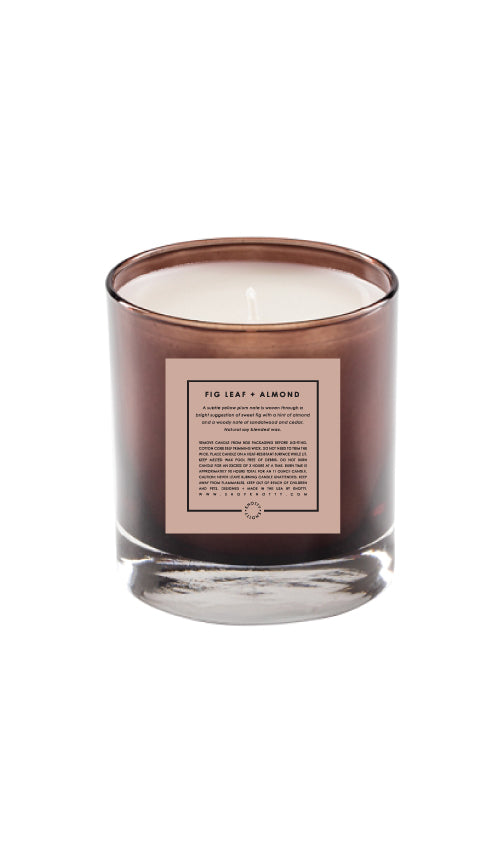 Soy Candle | Fig Leaf + Almond - Knotty