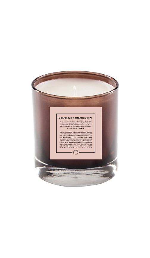 Soy Candle | Grapefruit + Tobacco Leaf - Knotty