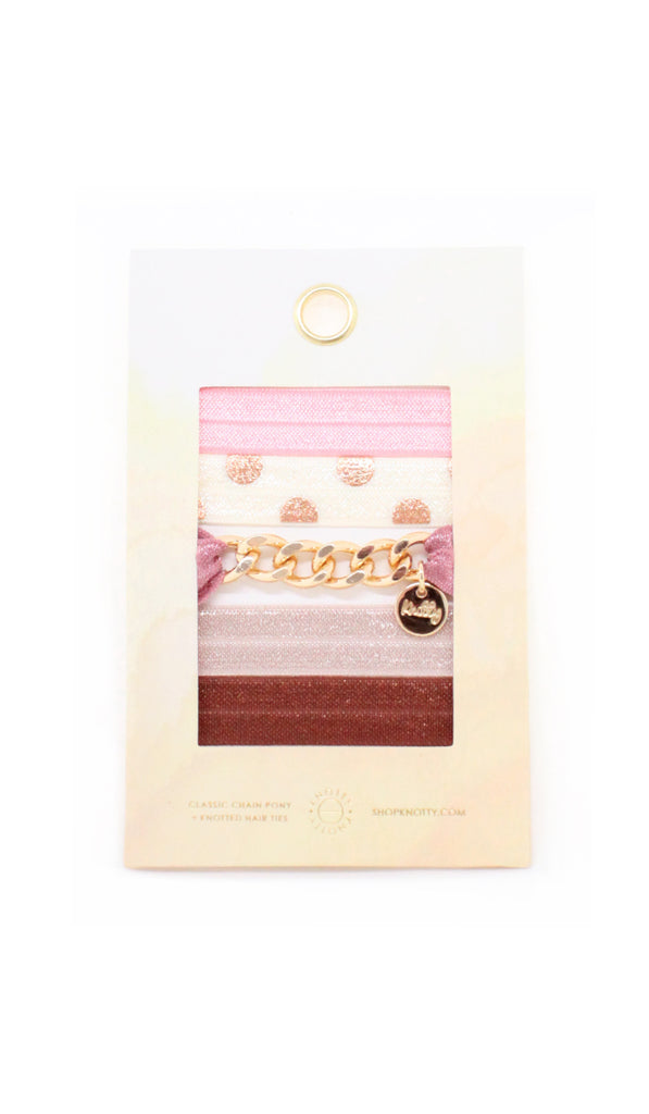 Classic Chain Hair Tie Envelope | Blush