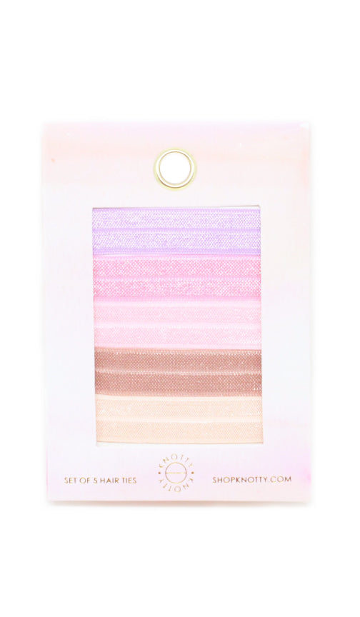 Blush | 5-Pack Hair Tie Envelope - Knotty