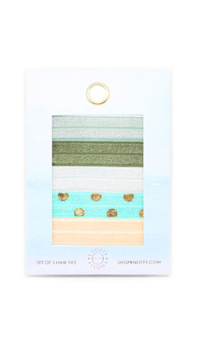 Lime Mint | 5-Pack Hair Tie Envelope