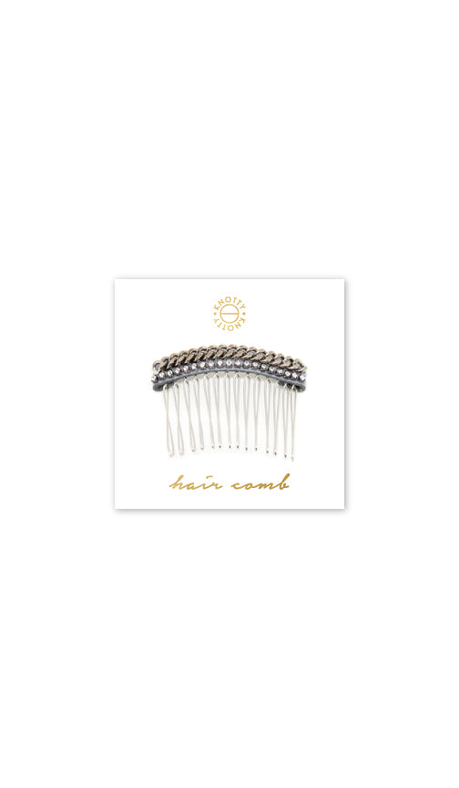 Huxton Hair Comb | Rhodium - Knotty