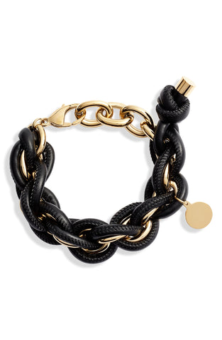 Leather Wrapped Chain Bracelet | More Colors Available