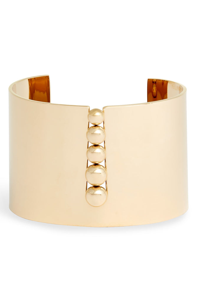 Inset Bead Wide Cuff | More Colors Available - Knotty