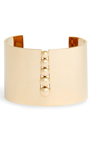 Inset Bead Wide Cuff | More Colors Available