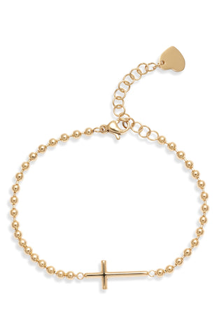 Cross Charm Bracelet | More Colors Available