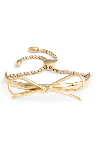 Bow Adjustable Cuff Bracelet | More Colors Available