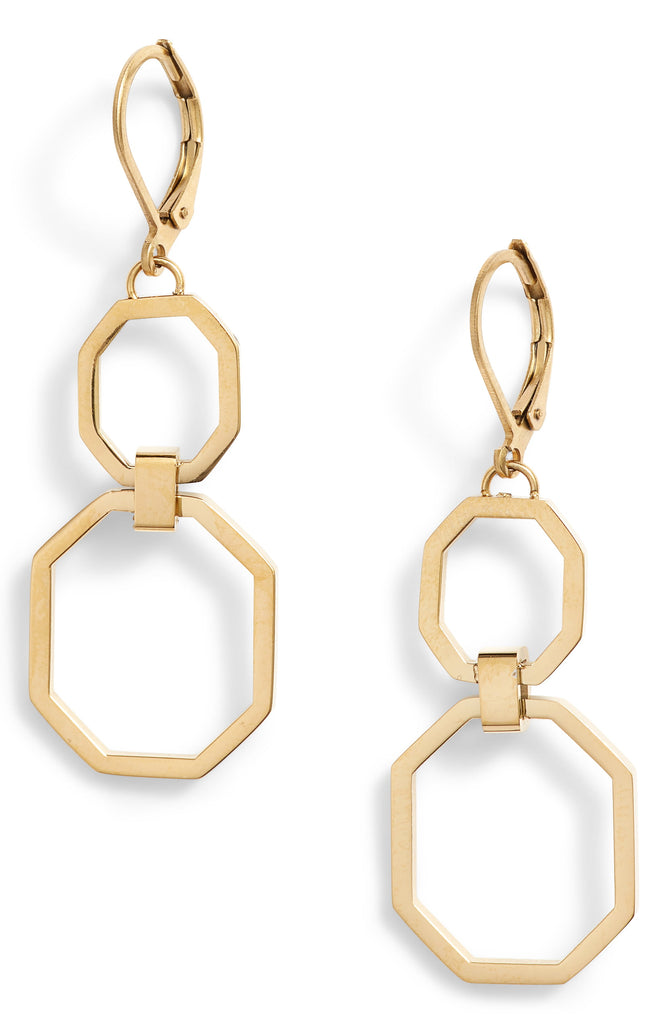Drop Double Link Earrings - Knotty