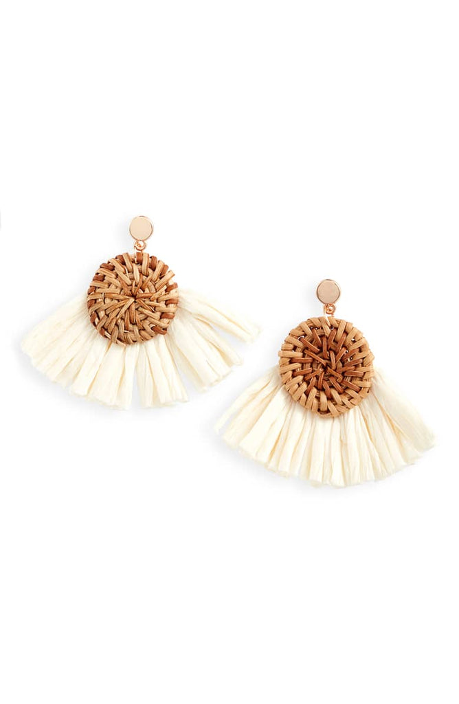 Raffia Burst Earrings - Knotty