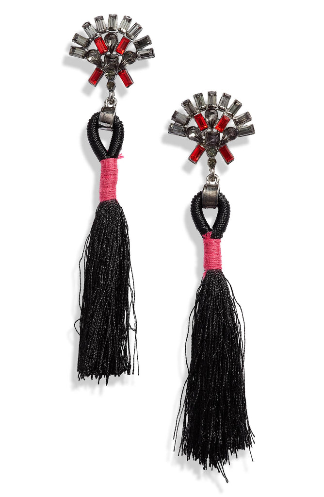Crystal Tassel Earrings | More Colors Available - Knotty