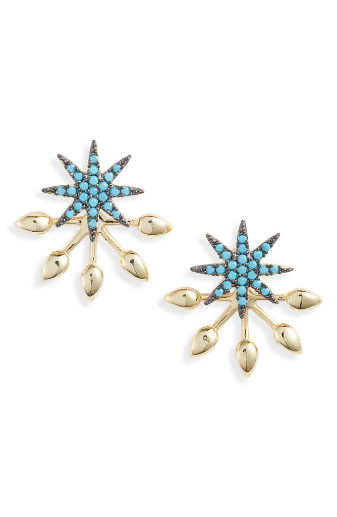 Turquoise Starburst Stud Earrings | More Colors Available - Knotty