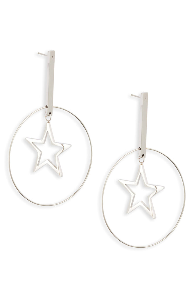 Floating Star Drop Hoops - Knotty