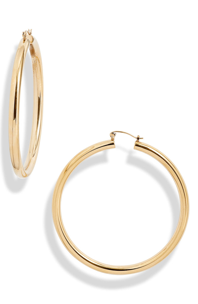 XL Classic Tube Hoop Earrings | More Colors Available - Knotty