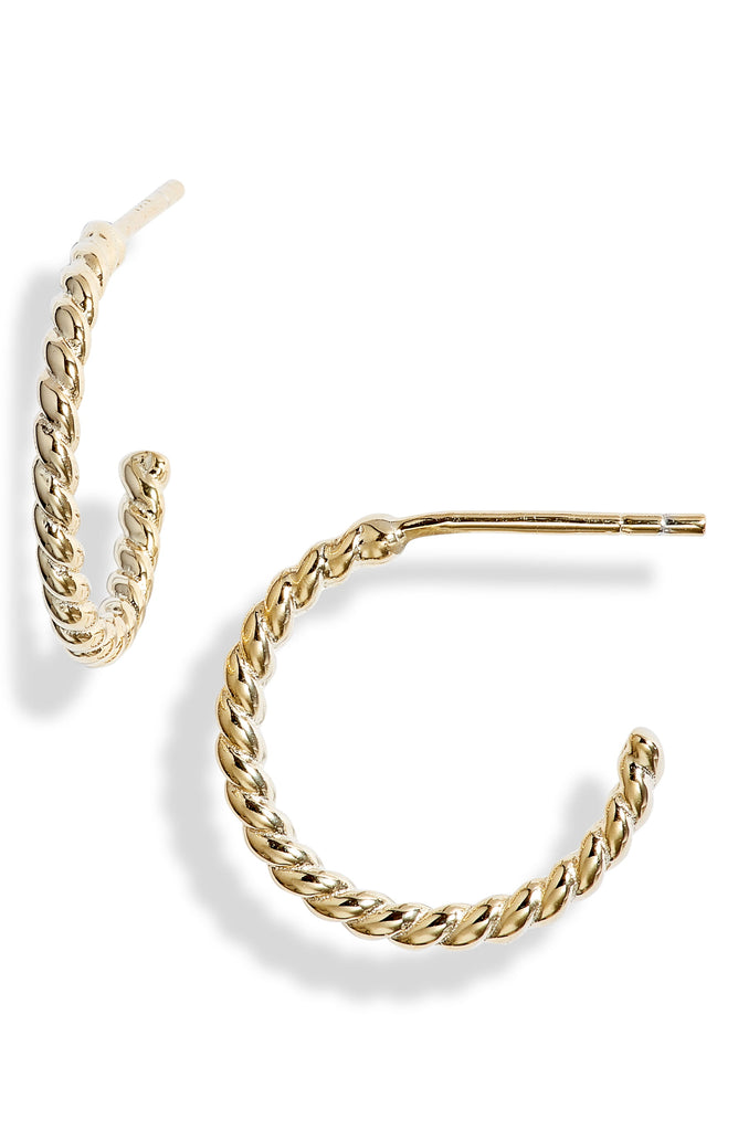 Twisted Mini Hoop Earrings | More Colors Available - Knotty