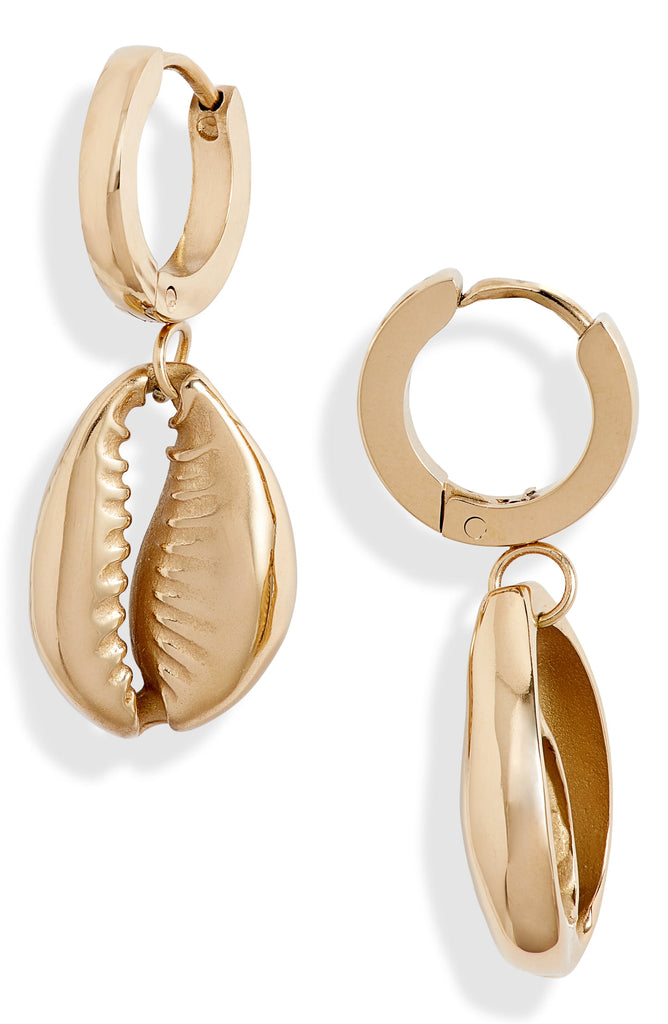 Shell Huggie Drop Earrings | More Colors Available - Knotty