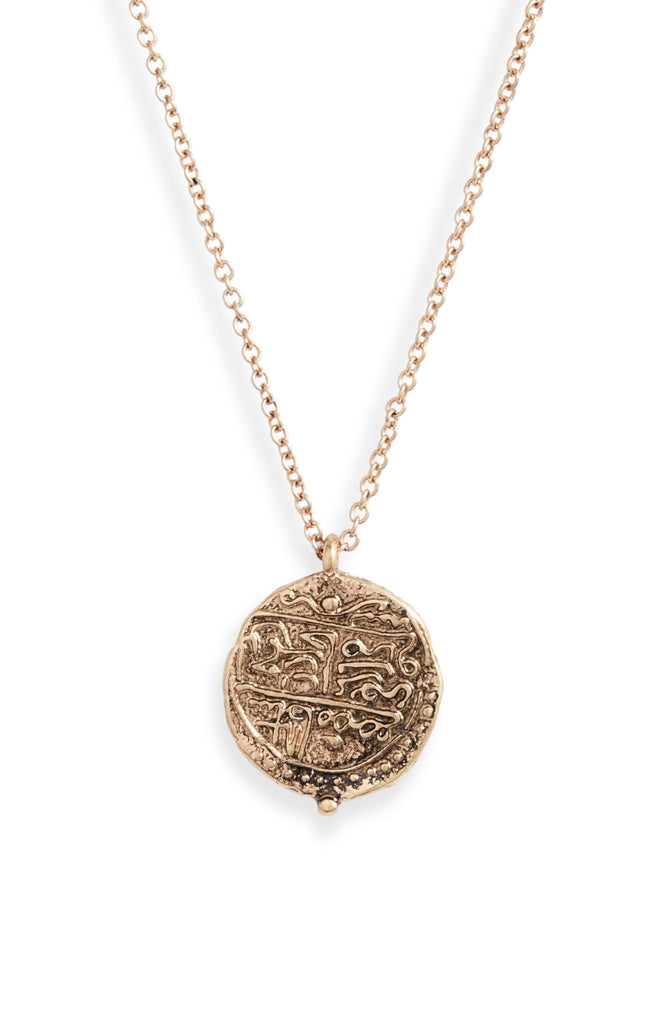 Medallion Coin Charm Necklace - Knotty