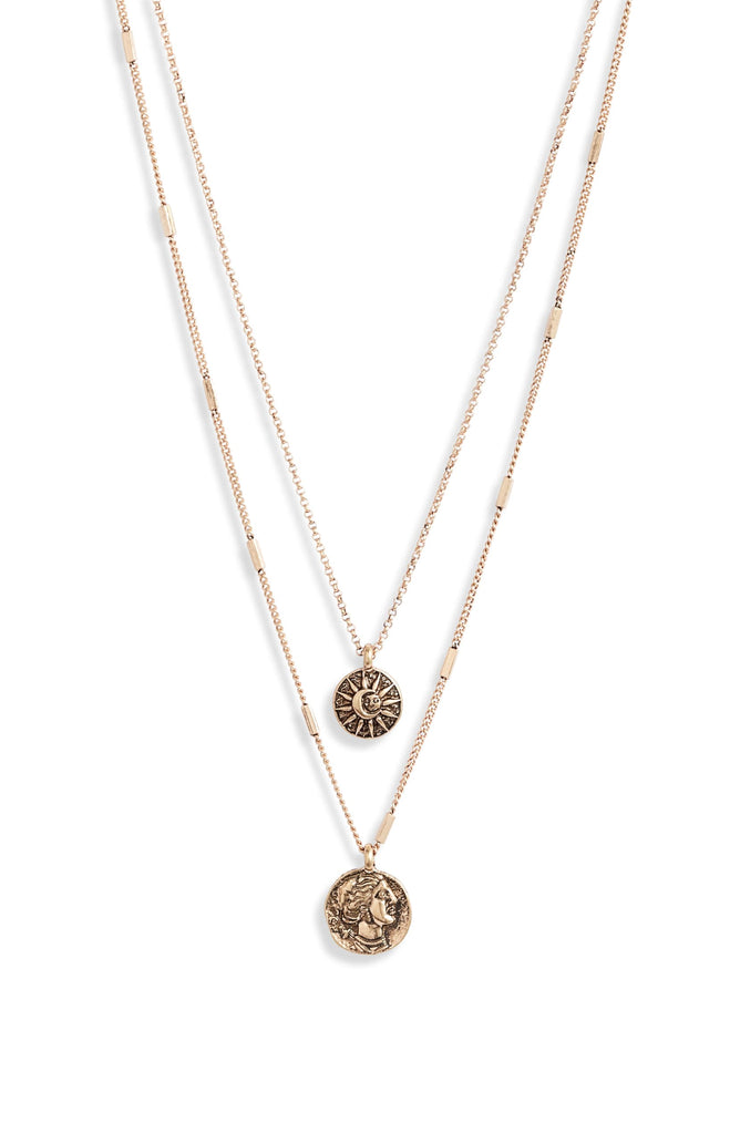 Sunburst Coin Charm Necklace - Knotty
