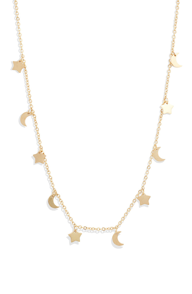 Sun Moon Stars Charm Necklace - Knotty