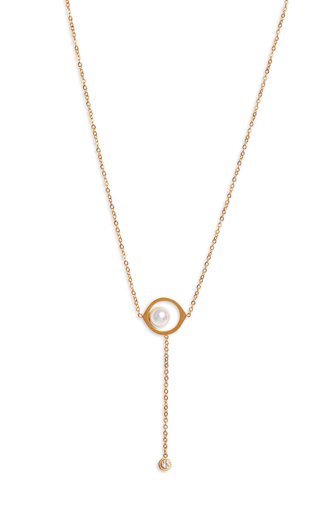 Pearl Drop Necklace - Knotty
