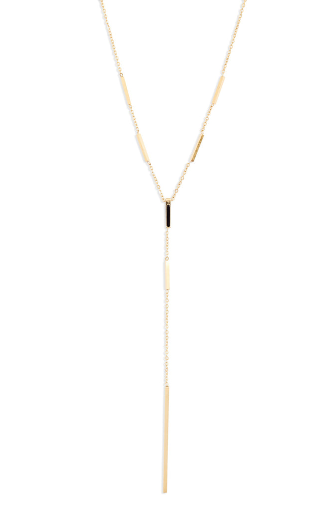 Bar Drop Necklace - Knotty