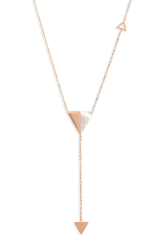 Triangle Y-Drop Necklace - Knotty