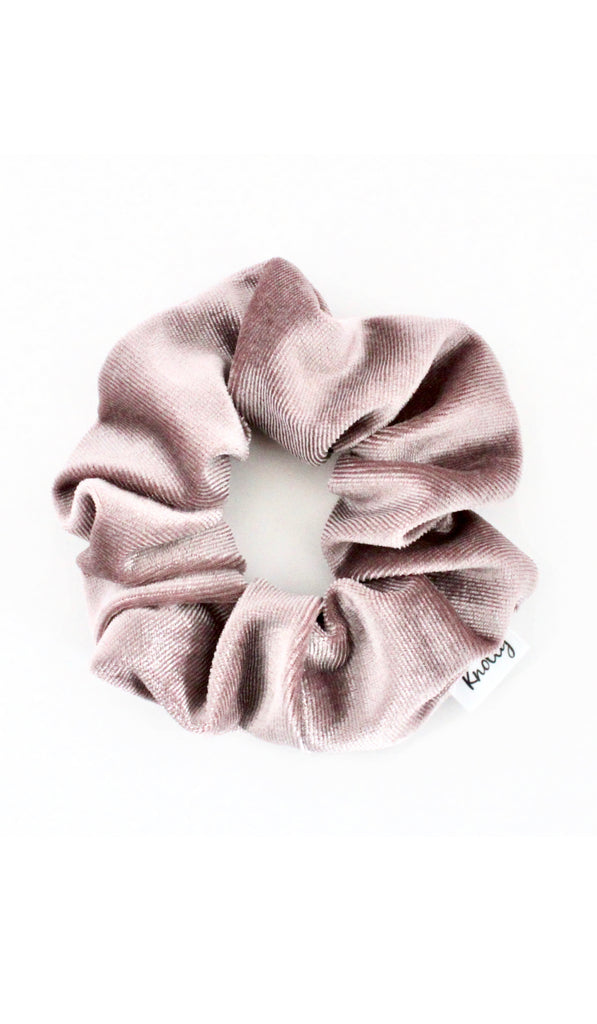 Crushed Velvet Hair Scrunchie, Mauve - Knotty