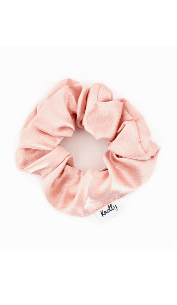 Washed Satin Hair Scrunchie, Nude - Knotty