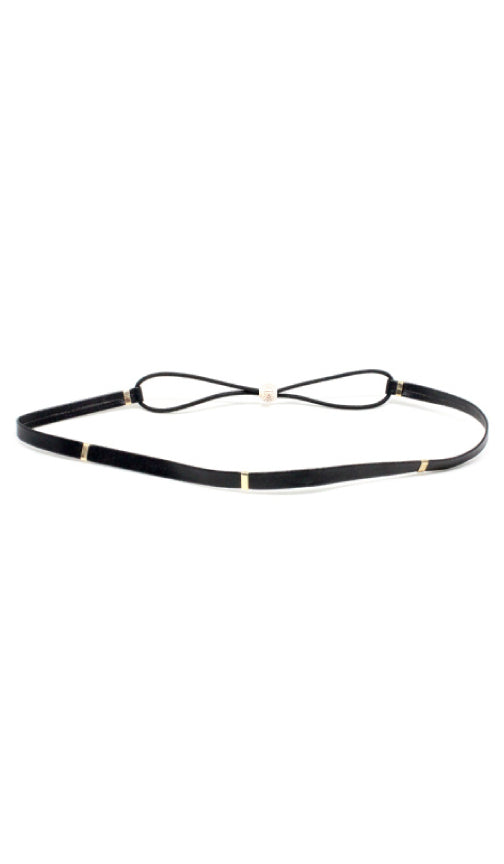 Signature Leather Headband | Black - Knotty