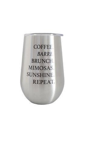 Wine Tumbler | Brushed Silver