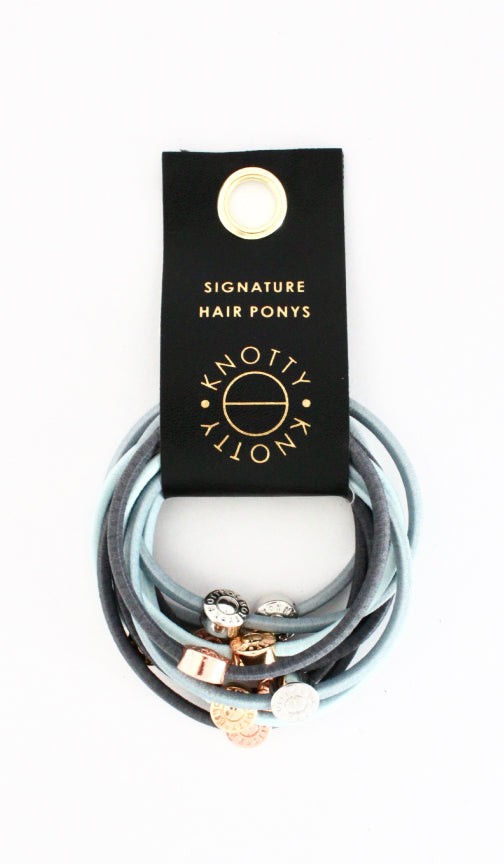 Signature Pony Set of 10 | Blue Grey - Knotty