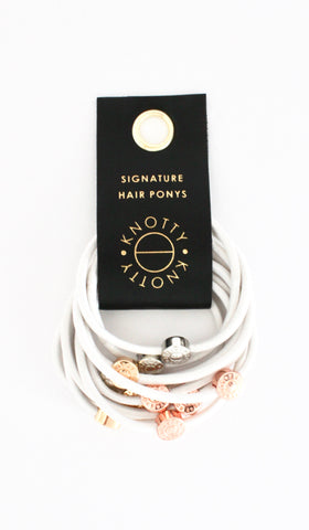 Signature Pony Set of 10 | White
