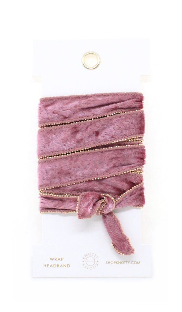 Velvet Convertible Wrap Headband | Blush